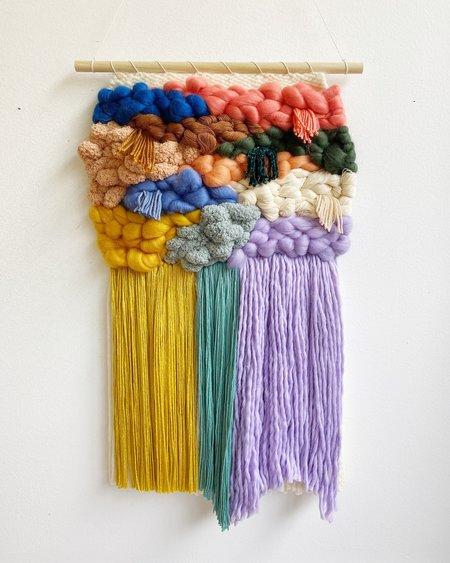 Sunwoven studios for Greenwood Custom Color Block Weaving 3 wall hanging - multi