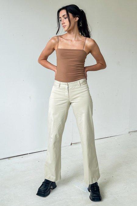 Vintage  Dolce & Gabbana Flared Low Rise Pants - ecru