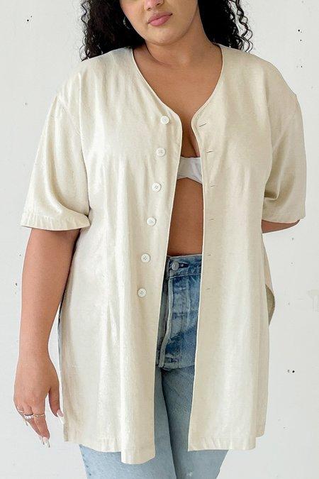 Vintage Raw Silk Tunic - ECRU