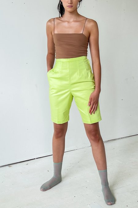 Vintage High Rise Shorts - lime