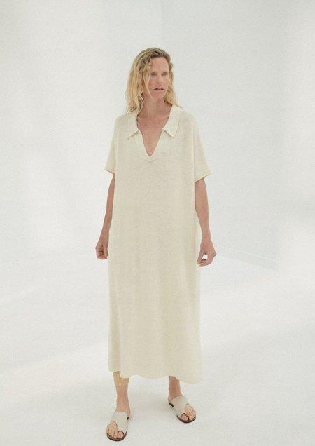 Mónica Cordera Knit Linen Dress - Natural