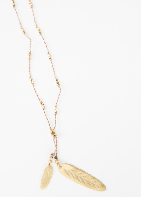 5 Octobre Sims Large Feather Necklace