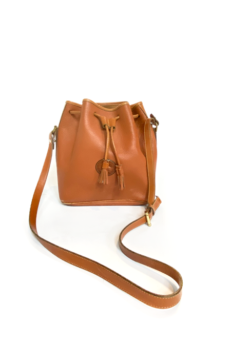 Vintage Dooney & Bourke Leather Bucket Bag
