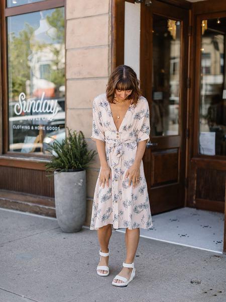 Lucca Couture Palmetto Midi Dress - Sandy Palm