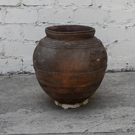 Vintage Ceramic Nupe Water Vessel