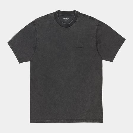 CARHARTT WIP S/S Mosby Script T-Shirt - Black Wash