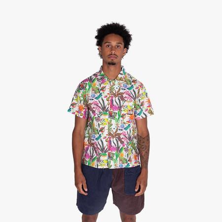 Real Bad Man Psychedelica Vacation Shirt - Black