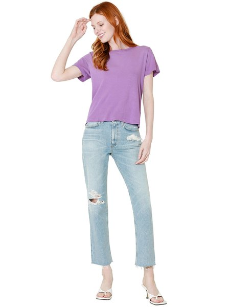 Citizens Of Humanity Daphne Crop High Rise Stovepipe denim - Aster