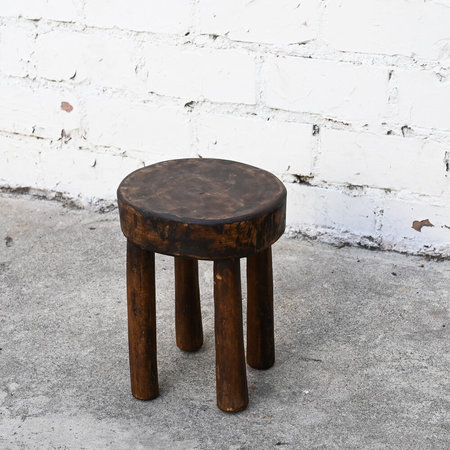 Vintage Small Round Senufo Stool from Cote d'Ivoire