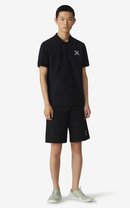 Kenzo Sport Logo Sweat Short - Black