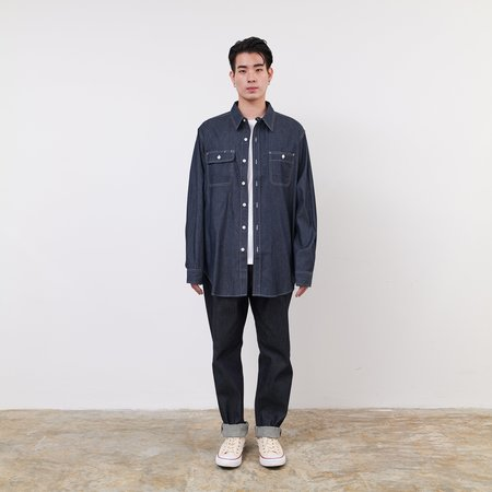 Engineered Garments Lightweight Denim Utility Shirt - Navy