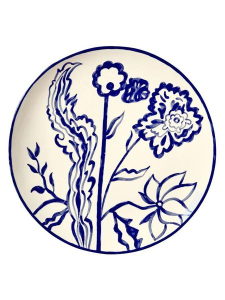Gunia project Ceramic plate - indigo