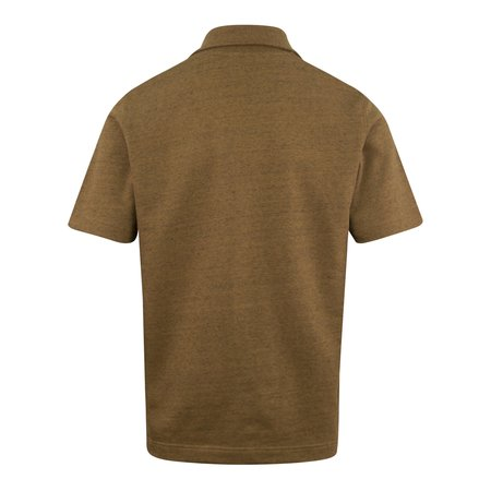 Norse Projects Jom Half Zip Linen Mix Polo - Brown