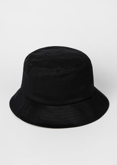 PAUL SMITH Embroided Logo Bucket Hat - Black