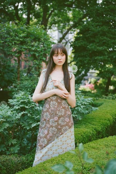 Anna Sui Mesh Dress - Olive Combo