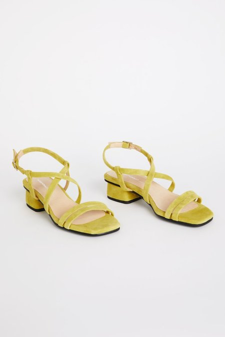 """""""INTENTIONALLY __________."""" HILLTOP sandals - Lime"""