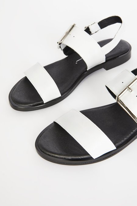 """""""INTENTIONALLY __________."""" Max Sandals - White"""