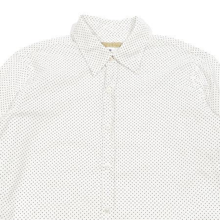 Pip Squeak Chapeau Long Boy Shirt - Mini Dot B/W
