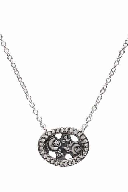 Oliver Kelly Mini Silver Rose w/ Diamonds