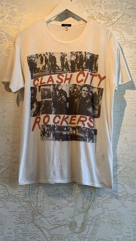 R13 Clash City Boy Tee - white