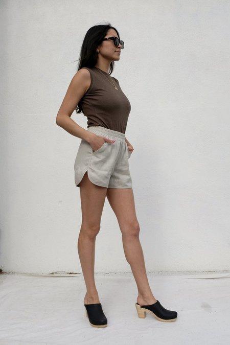 Beaton Linen Running Shorts - Bone