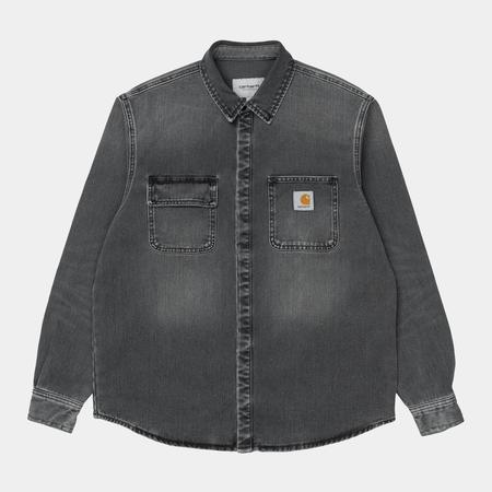 CARHARTT WIP Salinac Shirt Jacket - Black Worn Washed