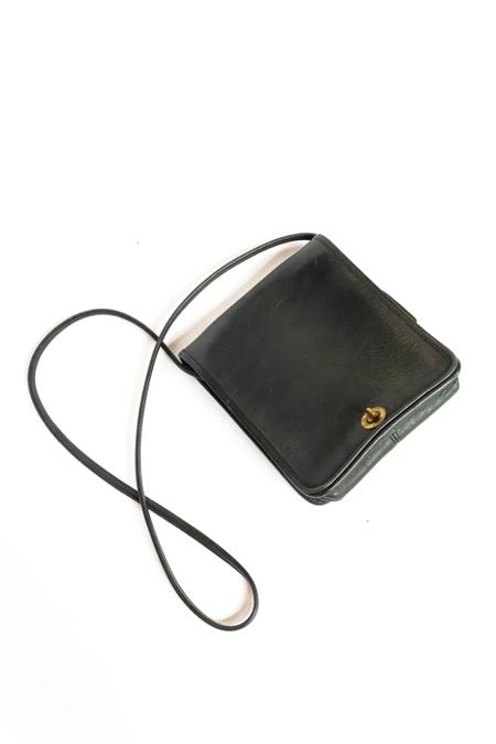 Vintage Coach Compact Pouch Bag - Black