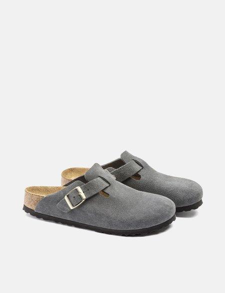Birkenstock Boston Suede SFB Regular sandals - Grey