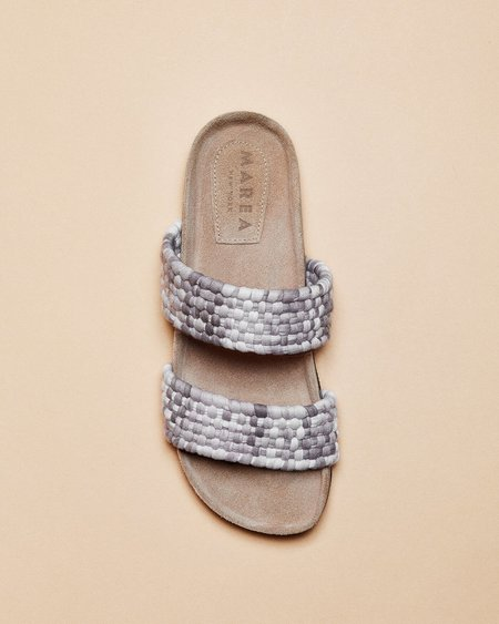 Marea New York Doble Banda Slides - Grey Mauve
