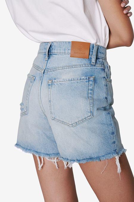 Anine Bing Kit Short - Washed Blue