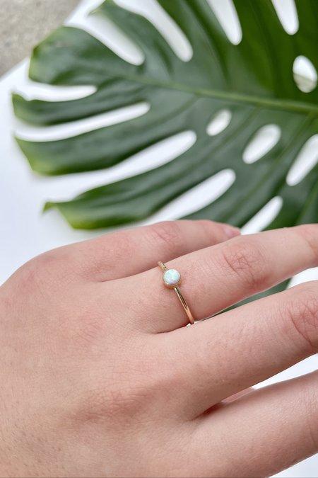 The Minimalist Magnolia October Opal Ring