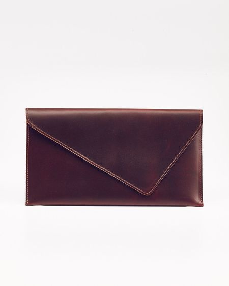 Nisolo Luisa Leather Clutch Brandy