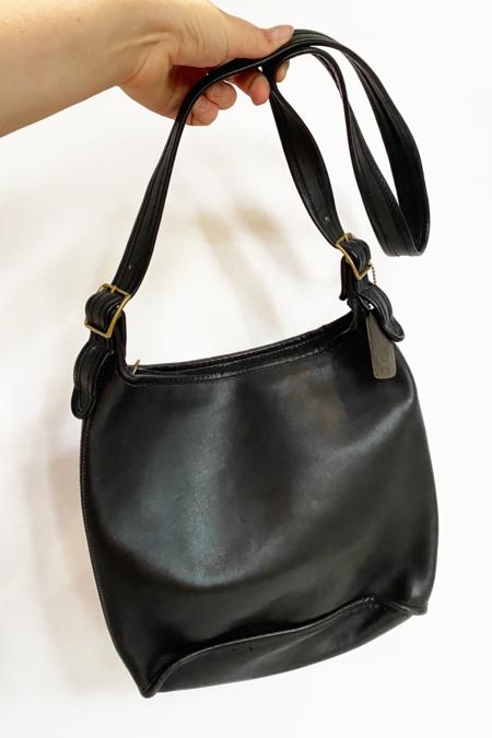 Vintage Coach Slim Duffle Bag - Black