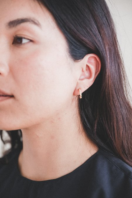 Another Feather SMALL ROPE HOOPS - 14K gold