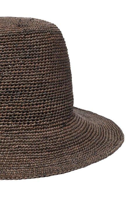 Jan-Jan Van Essche Straw Crochet Hat - BROWN