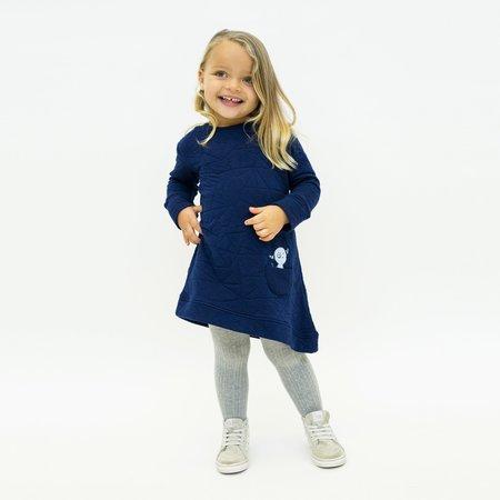 Kids Bash + Sass Asymmetric Dress - Quilted Deep Blue
