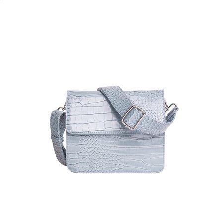 HVISK Cayman Shiny Strap Bag - Dusty Blue
