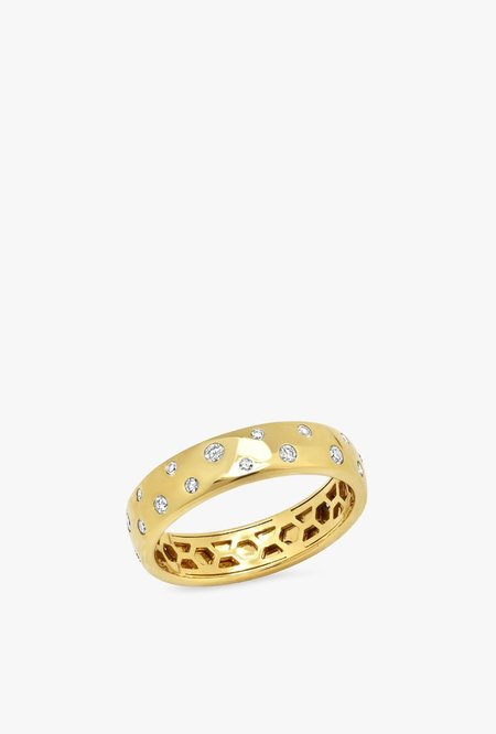 Eriness Diamond Polka Dot Ring