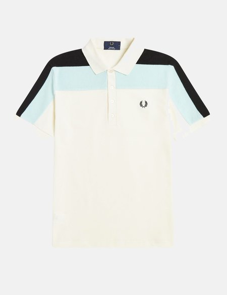 Fred Perry Reissues Towelling Panel Polo Shirt - Ecru