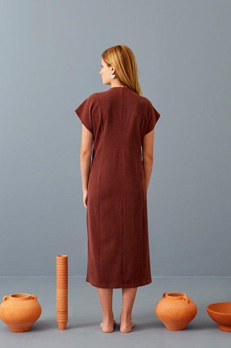 3rd Season Designs Elaine Midi Dress - Port