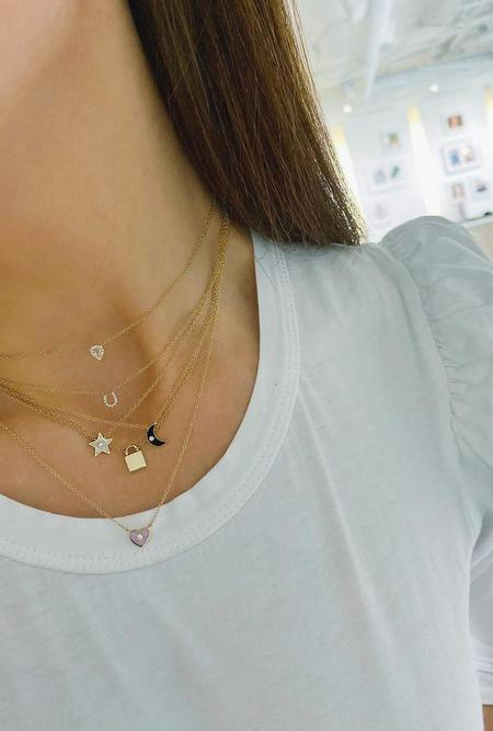 EF Collection Gold Lock Necklace