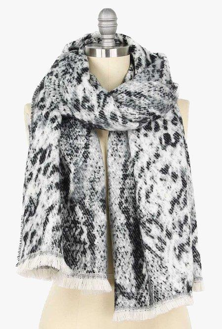 Azalea Soft Scarf - Grey Leopard Print