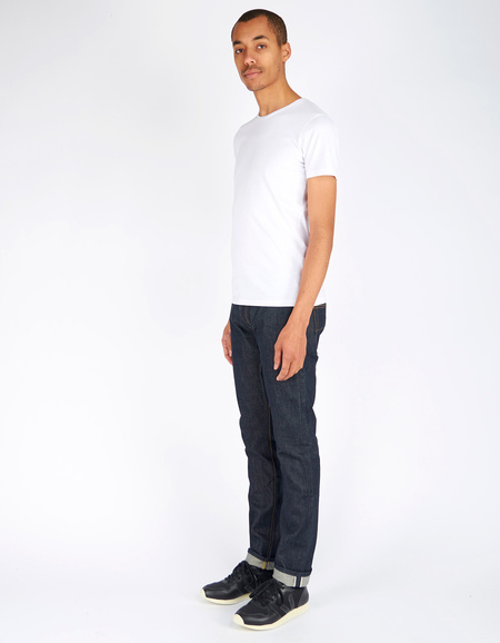 Tellason Gustave Slim Selvage Denim - Dark Blue