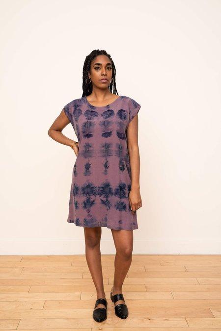 3rd Season Designs Laguna Shift Dress - Ikat Plum/Blue