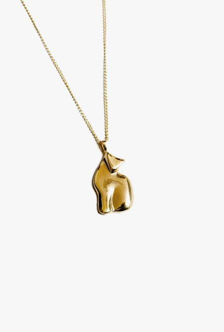 Wolf Circus Le Chat Necklace - 14k gold plated