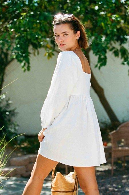 Merritt Charles Palmer linen Dress - White