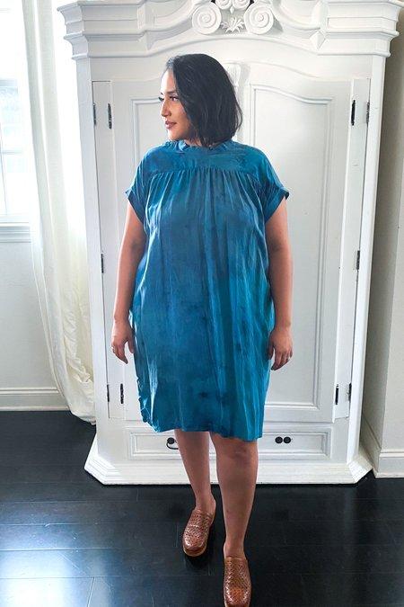 3rd Season Designs Simone Hand Dyed Celadon Dress - BLUE
