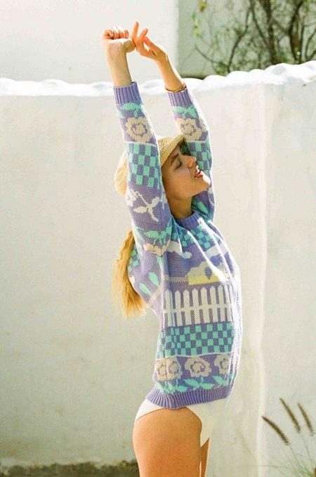 Merritt Charles Tallahassee Sweater - Purple Springtime Ducky