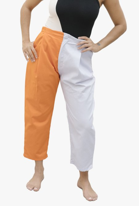 unisex Nin Studio Zoot Pant - Lilac/Orange