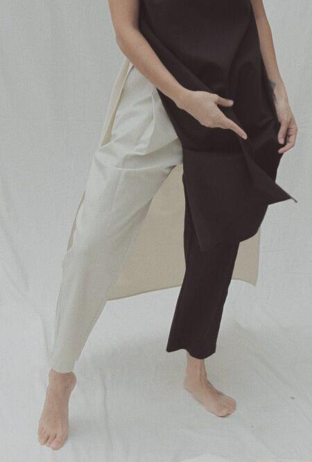unisex Nin Studio Zoot Pant - Navy/Cream